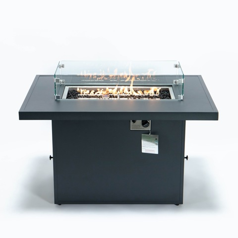 All Aluminium Outdoor Patio Gas Fire Pit Table 55000 BTU