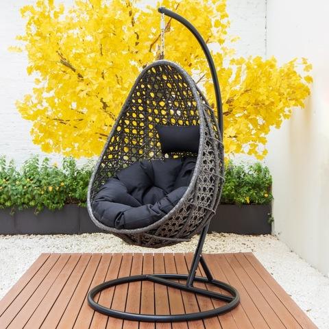 Cathraiche swing patio ùr-nodha cumadh ugh cathair swing swing crochadh cathair swing dealbhan & dealbhan