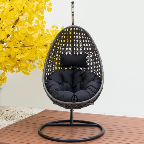 Isihlalo sesimanje se-patio swing chair i-rattan egg shape swing chair ilenga isihlalo se-swing