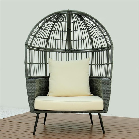 Patio Ogige rattan daybed hotel pool furniture na okwuchi windo kanopi