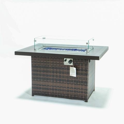 Propane Gas Fire Pit Table 55000 BTU Outdoor Companion Auto-Ignition Fire Table gambar & foto