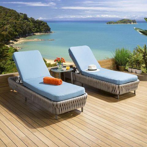 רבי מכר באירופה כיסא נוח בחוץ קל משקל רהיטי חבלים מלון נופש גינה אלומיניום ליד הבריכה