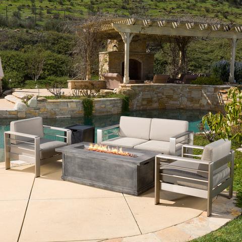 欧式热销铝合金沙发豪华酒店度假别墅花园组合沙发吧台家具金属户外套装