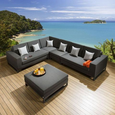 Foshan rozrywka Hotel Resort Villa Garden odkryty salon Wodoszczelność Nowoczesna sofa segmentowa aluminiowa Patio Zestaw mebli