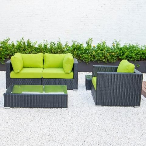 花园套装庭院椅花园桌休闲藤沙发套装户外柳条藤家具