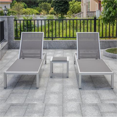 Gorąca sprzedaż High End Factory Custom Outdoor Leżak OUTDOOR LOUNGE regulowany aluminiowy ogród patio Leżak leżak