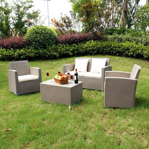 休闲户外家具塑料藤条花园沙发