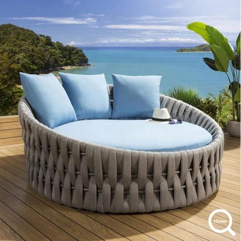 Luksusowe tapczanem metalu plaży leżak Królewski Rope solarium aluminium leżaka Hotel basen ośrodek fotel meble ogrodowe