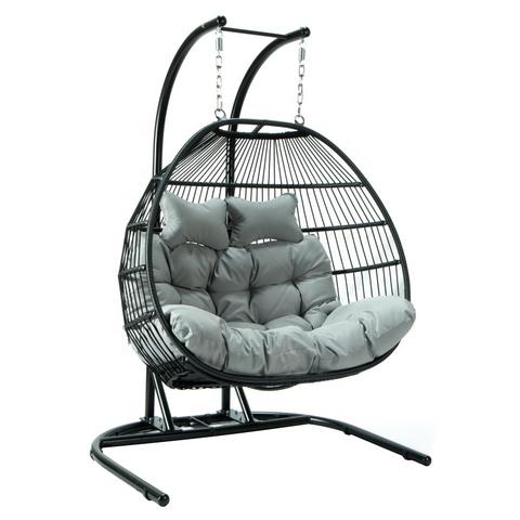 Nowy model mebli ogrodowych Rattanowe huśtawki ogrodowe Krzesła wiszące do wnętrz