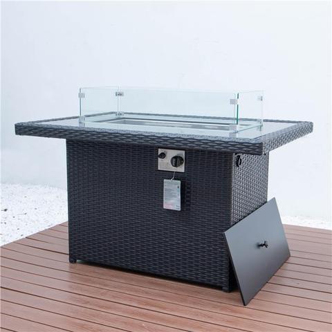 Столы для костра на открытом воздухе, газовый пропан, прямоугольный стол для костра с набором софы