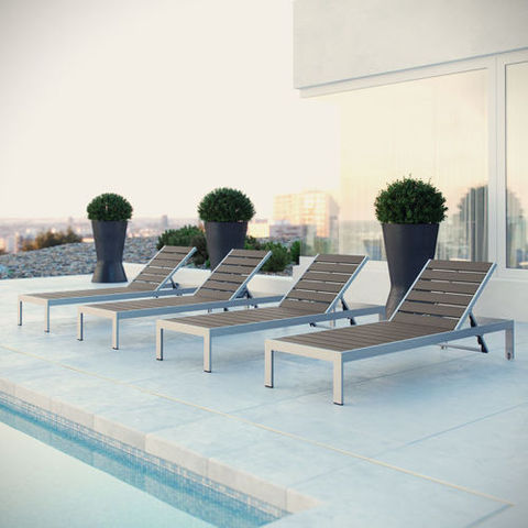 מחוץ לחוף המודרני פנאי כיסא טרקלין אלומיניום ריהוט גן מיטת שיזוף לאחור כיסאות נוח חיצוניים למלונות חוף