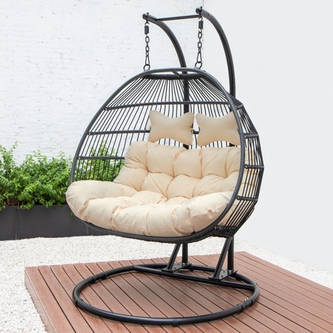 Веревка тканая висячая патио качели кресло для яиц стручок ротанга уличная мебель кресло для яиц