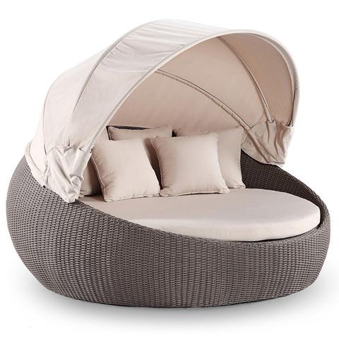 מעצבת עכשווית מיטת ספה קאבון מיטת ריהוט גן יוקרתית