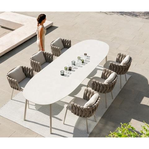 nowoczesne meble do jadalni stół i krzesła do jadalni na zewnątrz zestaw ogrodowy